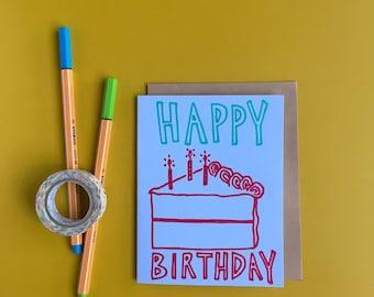 Big Cake Letterpress Birthday Card