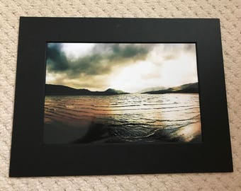 Loch Laggon 12x8 print in a A4 mounted frame