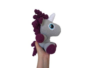 READY TO SHIP: Handmade crochet amigurumi doll unicorn my little pony