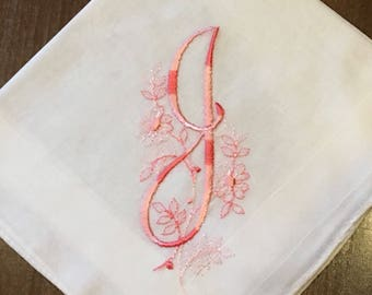 Vintage Monogram J Handkerchief