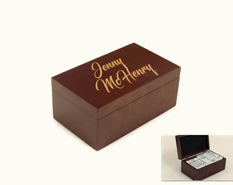 Personalized Laser Engraved Dominoes Set - Custom Dominoes Game - Custom Games - Personalized Dominoes - Dominoes