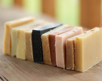 Soap Samples // 10 bars, artisan, essential oil, cold processed, real soap