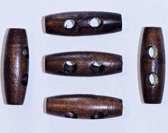 10 x button logs wooden Brown 30mm: 2336