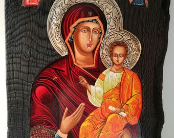 Icon. Virgin with the baby