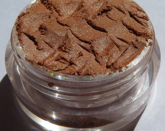 Earth-Tone Brown Mineral Eyeshadow | Gold Shimmer | Loose Pigments | Cruelty Free | Vegan Mineral Eye Shadow -Wings in Flight