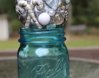 Silver and White Ornament
