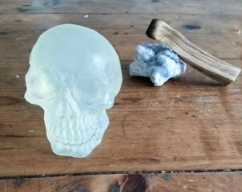 Limited edition large 3D vegan glycerin skull soap