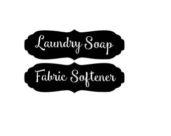 Laundry Soap and Fabric Softener Decals