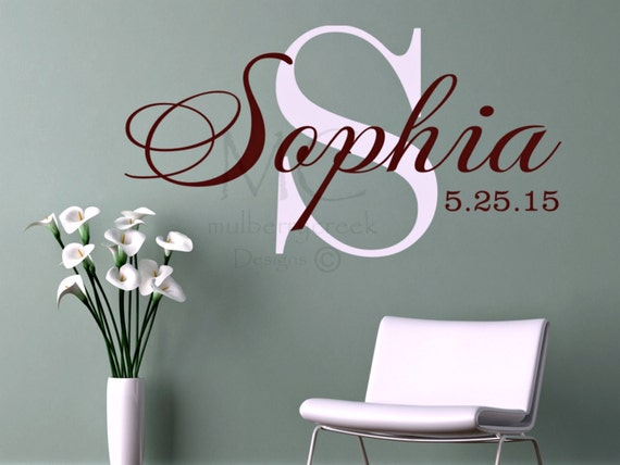 Personalized vinyl decal custom vinyl names wall vinyl name decals