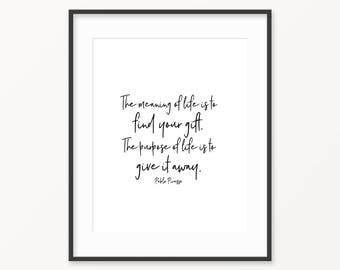 Picasso Quote - 8x10 Digital Download / pablo picasso - picasso print - wall decor - wall art