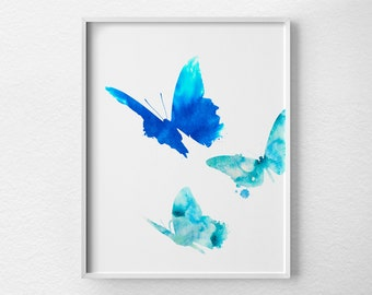 Butterfly Print, Watercolor Butterfly Print, Watercolor Print, Nursery Decor, Butterfly Art Print, Butterfly Decor, Butterfly Art, 0359