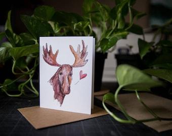 Moose Love Card