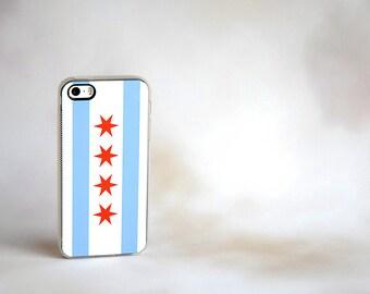 iPhone 8 Case, Phone Case, Chicago Flag Custom iPhone Case - unique iphone cases, gifts, gift ideas iPhone 6 Case, iPhone 6 Plus, 6+ Case