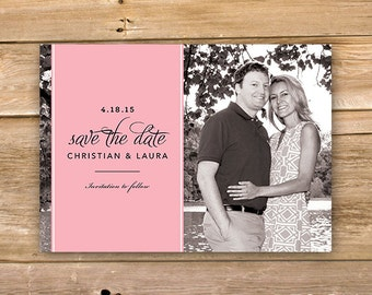 Save the Date, Wedding announcement, modern, simple text, printable, instant download