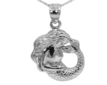 925 Sterling Silver Mermaid Necklace