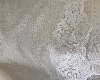 Plain sheer scalloped at the bottom of lace