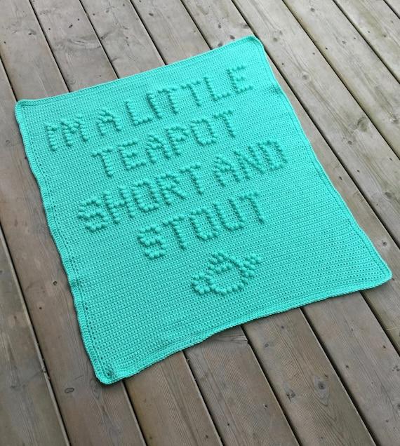 I'm A Little Teapot......Crochet Baby Blanket Pattern - Baby Blanket Pattern - Blanket Pattern