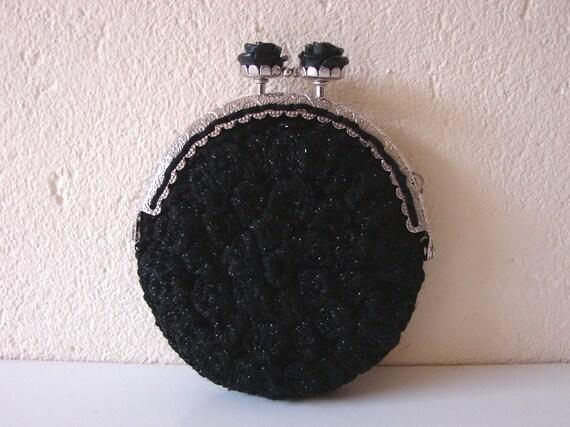 Geldbörse Häkelmuster Black rose Geldbörse Muster-Kätzchen