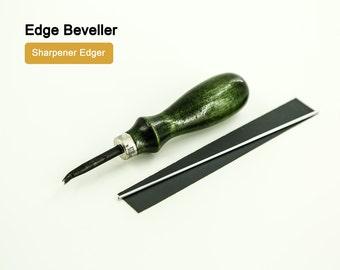 Deluxe Leather Edge Beveller Sharpener Edger LeatherMob Kyoshin Elle Leathercraft Craft Tool