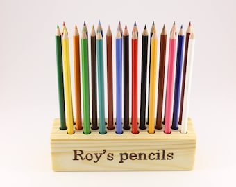 Personalized wooden pencil holder | Pen holder | Personalized desk decor | Personalized wood decor | Wooden office organizer