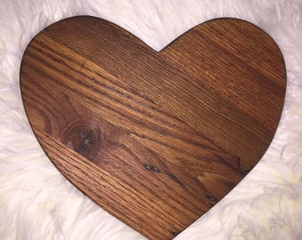 Heart cutting board, reclaimed pallet wood, Valentine's Day, wedding, anniversary gift, butcher block, custom cutting board