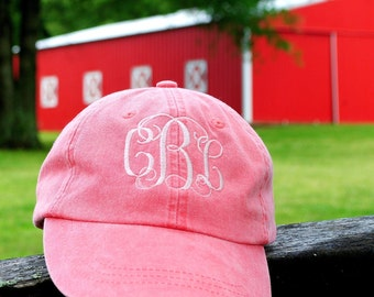 hat with monogram, mothers day, monogram baseball hat, bridesmaid hat, personalized hat, greek hat, baseball hat, beach hat monogram