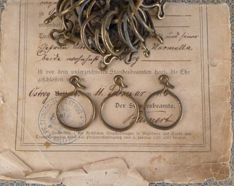A set of metal rings vintage,  vintage   brocante antiques , shabby chic