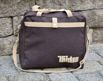 Vintage Channel 13 Bag   Retro PBS News Bag   Weekender Bag   Over Night Travel Bag    Retro Gym Bag   Vintage Duffle Bag   80s Carry On Bag