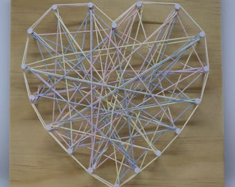 Pastel String Art Heart
