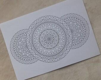 Three - Mandala Print