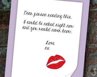 Suggestive card etsy dear person i may be naked str 009 funny naughty publicscrutiny Image collections