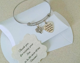 Mother Of The Groom Gift From Bride, Mother In Law, Thank You For Raising The Man Of My Dreams, Mother of Groom, SALE