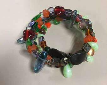 Unique multi colored beaded bracelet