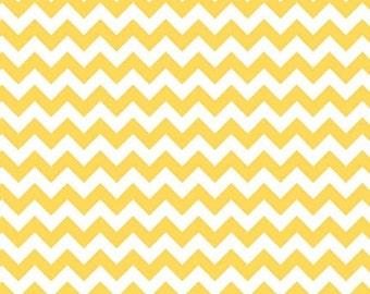 SALE Riley Blake Small Yellow Chevron Stripe