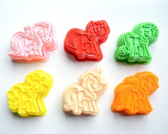 1 Piece of My Little Pony Cookie Cutters/3D Printed Cookie Stamp/Embossing Cookie Mold/Fondant Tools/Theme Party