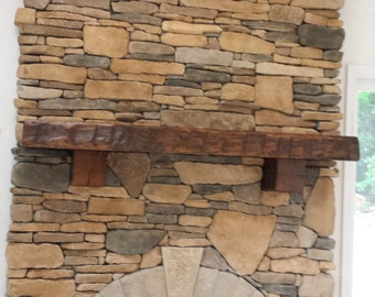 Fireplace Mantle, Barn Beam Mantle, Reclaimed Mantle, Custom made, Pa Location