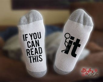 F It Socks, If You Can Read This, Gift For Him, Gift For Her