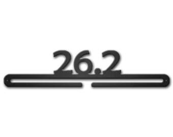 "18"" Wide 26.2 Medal Hanger Run Metal Art Full Marathon Half Runner Running"
