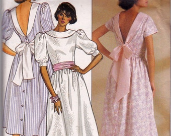 3110 Butterick Misses Dress, dress pattern from 1985, Bridesmaid dress patterns, formal dress patterns, butterick 1980's pattern