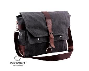 Canvas leather men's bag, canvas bag men, tablet bag, men's messenger bag, crossbody men's bag, canvas leather messenger bag,convertible bag