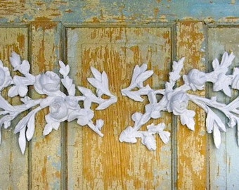 Shabby Chic Rose & Floral Furniture Appliques NEW