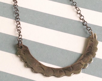 Texturised Silver Necklace