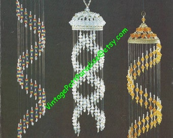 Vintage bead pattern Swirls With a Flair decorative spiral chandeliers bead instructions pdf
