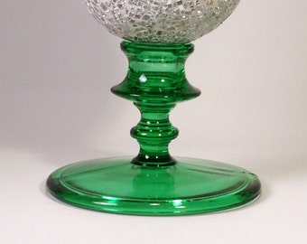 Green Glass Candle Holder | Emerald Taper Candle Stick | Décor Stand / Base