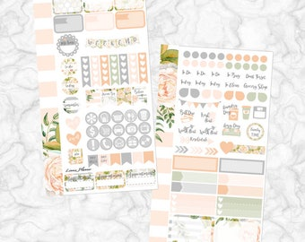 Champagne Bloom PERSONAL Kit (matte planner sticker, Filofax, Kikki K, Websters Pages, Color Crush)