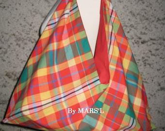 ORIGAMI bag / red madras