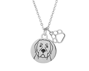 Rottweiler Dog Charm Necklace, Stainless Steel Rottie Necklace, Rottweiler Jewelry, Rottweiler Gift, Rottie Necklace, Rottie Gift, Rotty