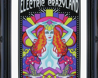 """Electric Crazyland Giclee Print 11"""" by 14"""" Unframed"""