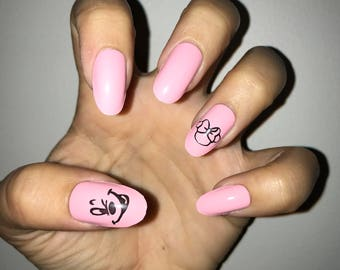 Disney Mickey & Minnie Mouse Acrylic Nails
