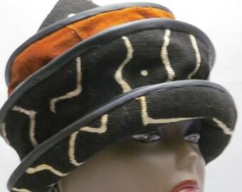 Chapeau «Maison africain» qu'avec reliure de cuir